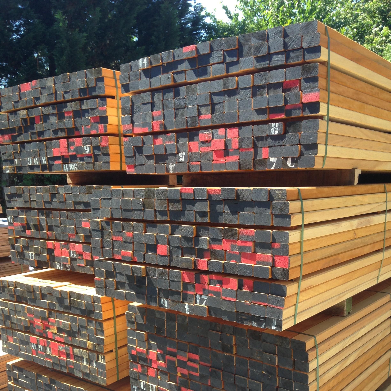 Tasseau Bois Exotique Exterieur lambourde 40 x 60 bois exotique - parquets bordeaux